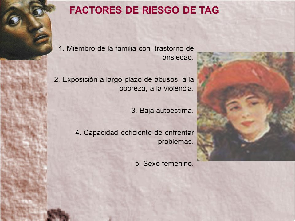 FACTORES DE RIESGO DE TAG