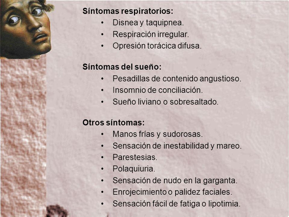 Síntomas respiratorios: