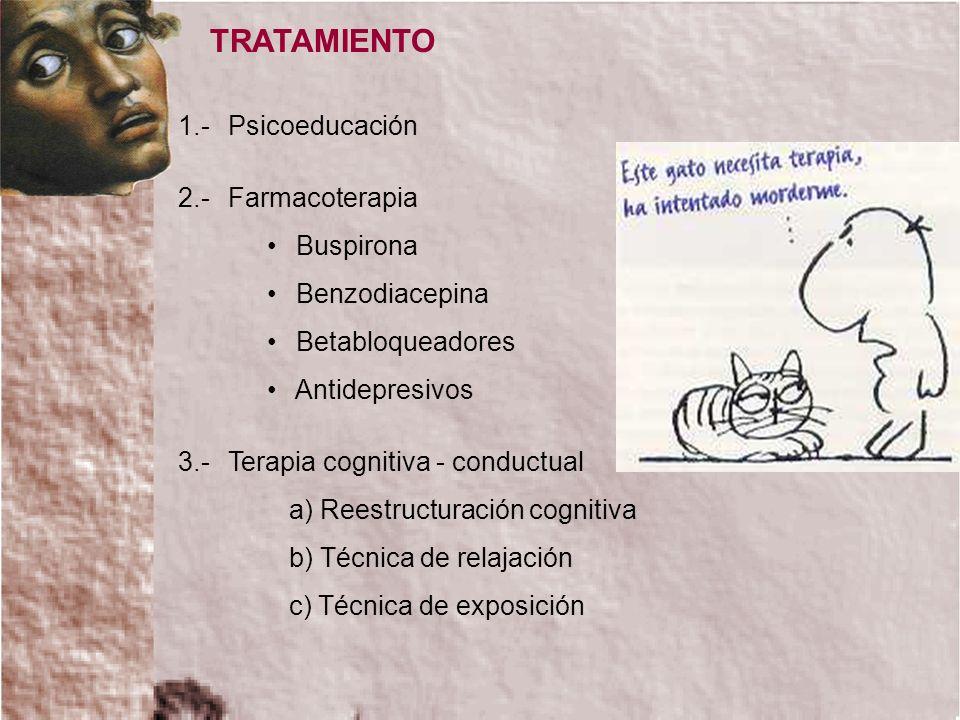 TRATAMIENTO 1.- Psicoeducación 2.- Farmacoterapia Buspirona