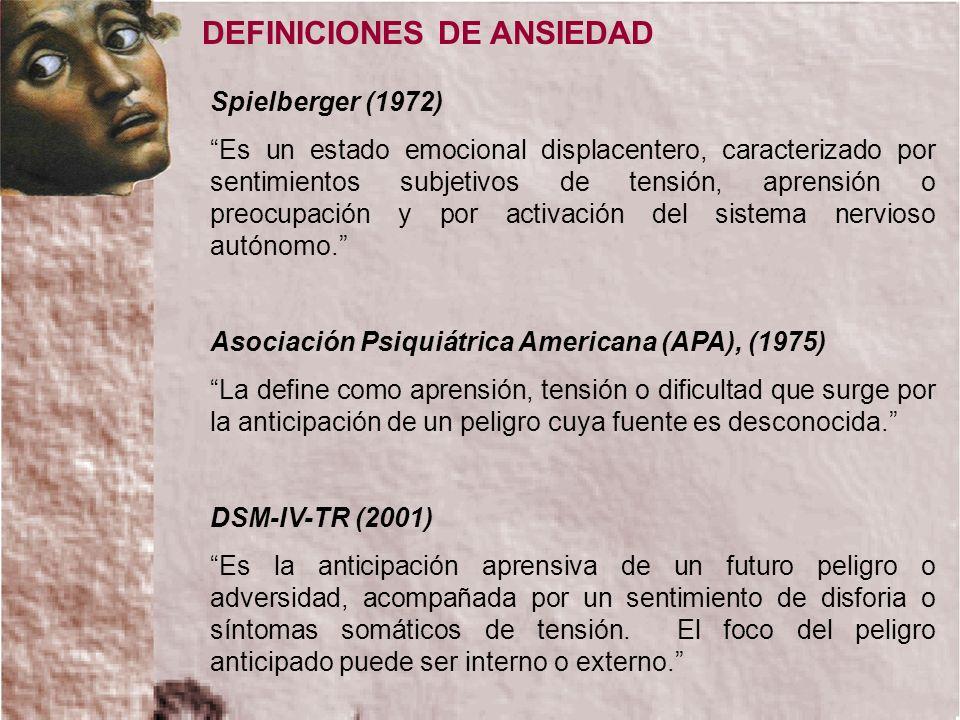 DEFINICIONES DE ANSIEDAD