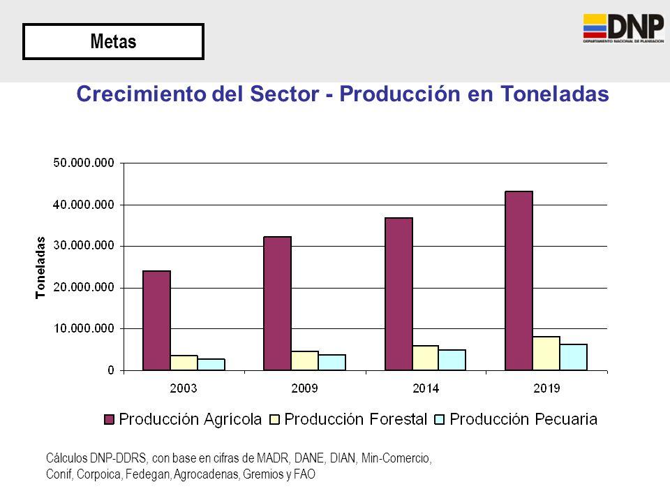 Crecimiento del Sector - Producción en Toneladas