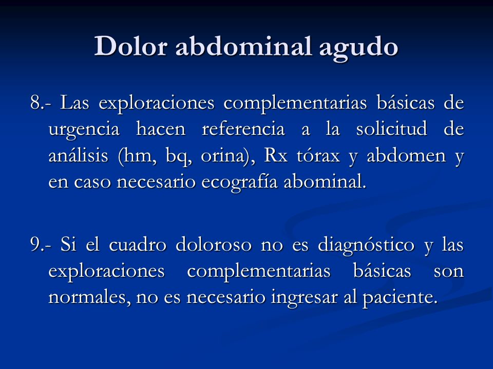 Dolor abdominal agudo