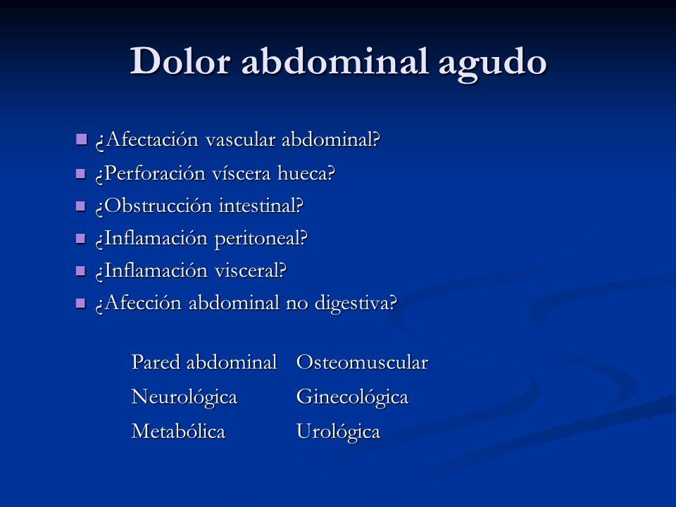Dolor abdominal agudo ¿Afectación vascular abdominal
