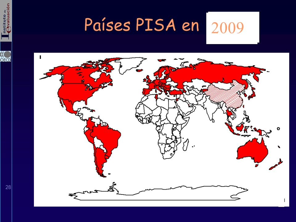 Países PISA en 2006 2003 2001 1998 2000 2009