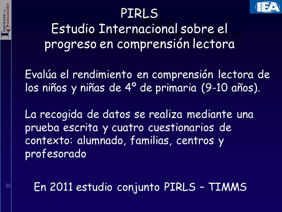 Estudio Internacional sobre el progreso en comprensión lectora
