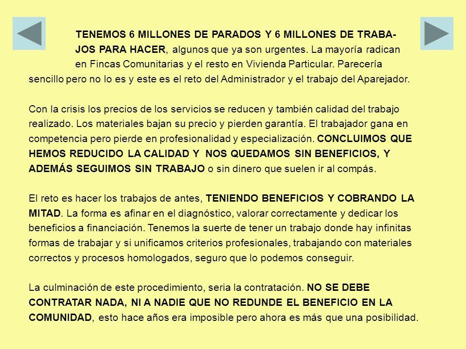 TENEMOS 6 MILLONES DE PARADOS Y 6 MILLONES DE TRABA-
