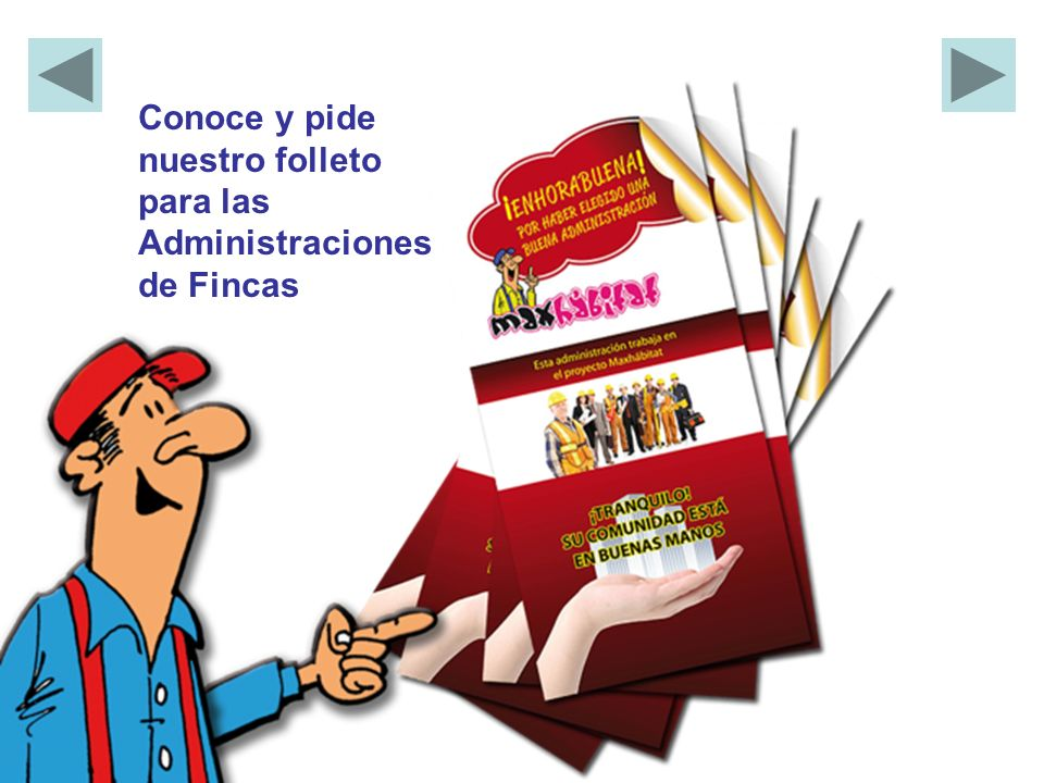Conoce y pide nuestro folleto para las Administraciones de Fincas