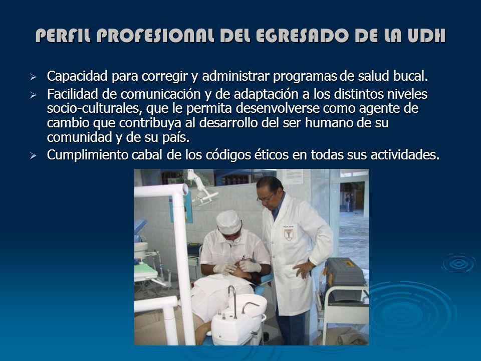 PERFIL PROFESIONAL DEL EGRESADO DE LA UDH