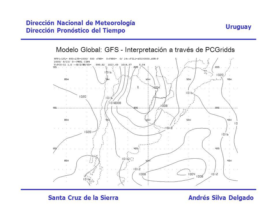 Modelo Global: GFS - Interpretación a través de PCGridds