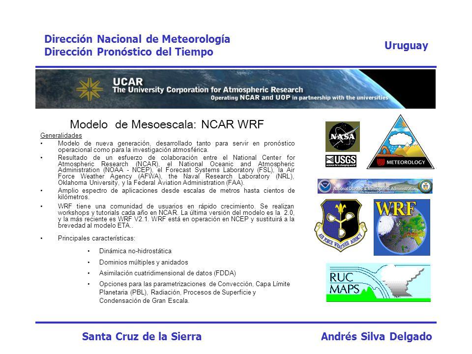 Modelo de Mesoescala: NCAR WRF