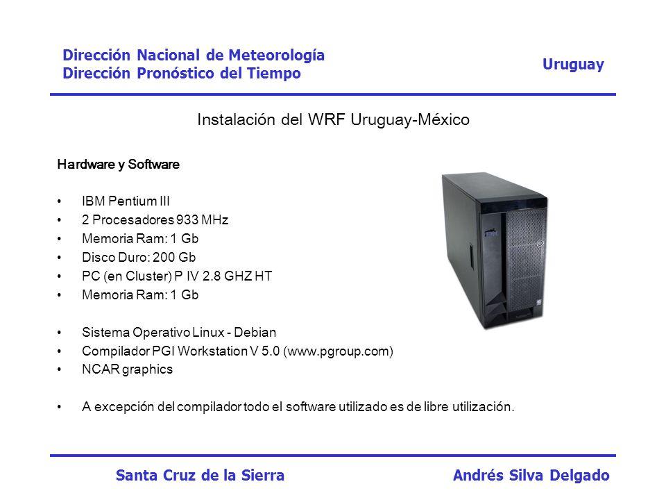 Instalación del WRF Uruguay-México