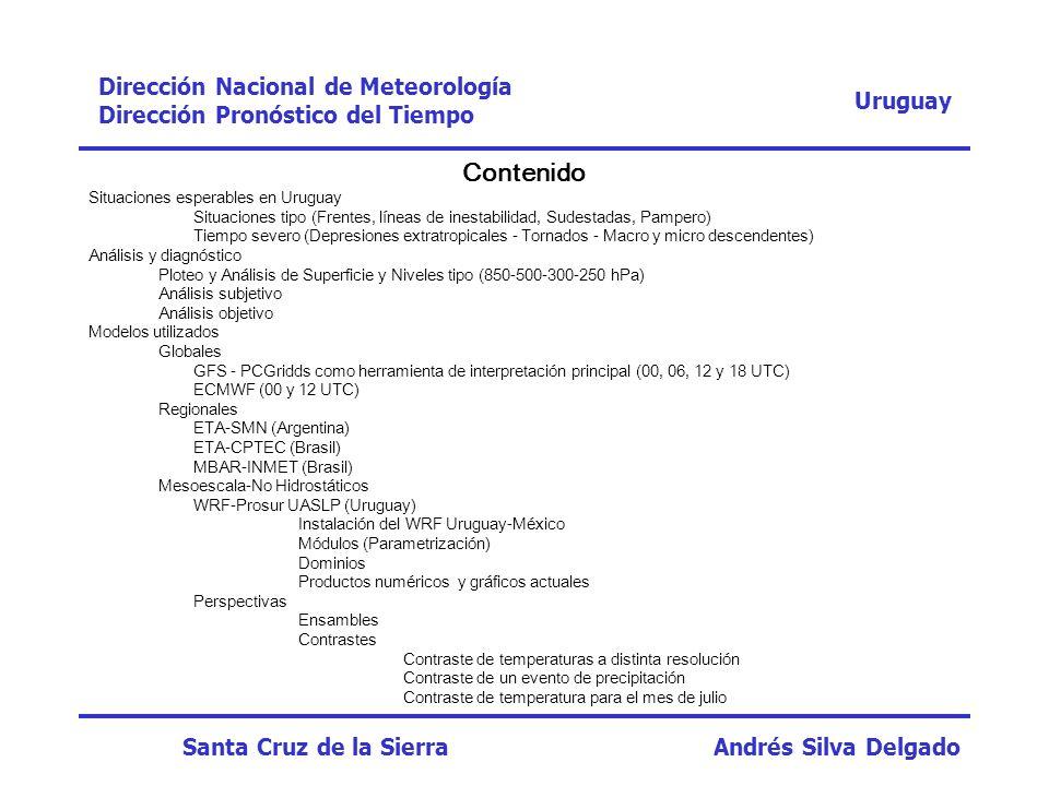 Contenido Dirección Nacional de Meteorología Uruguay