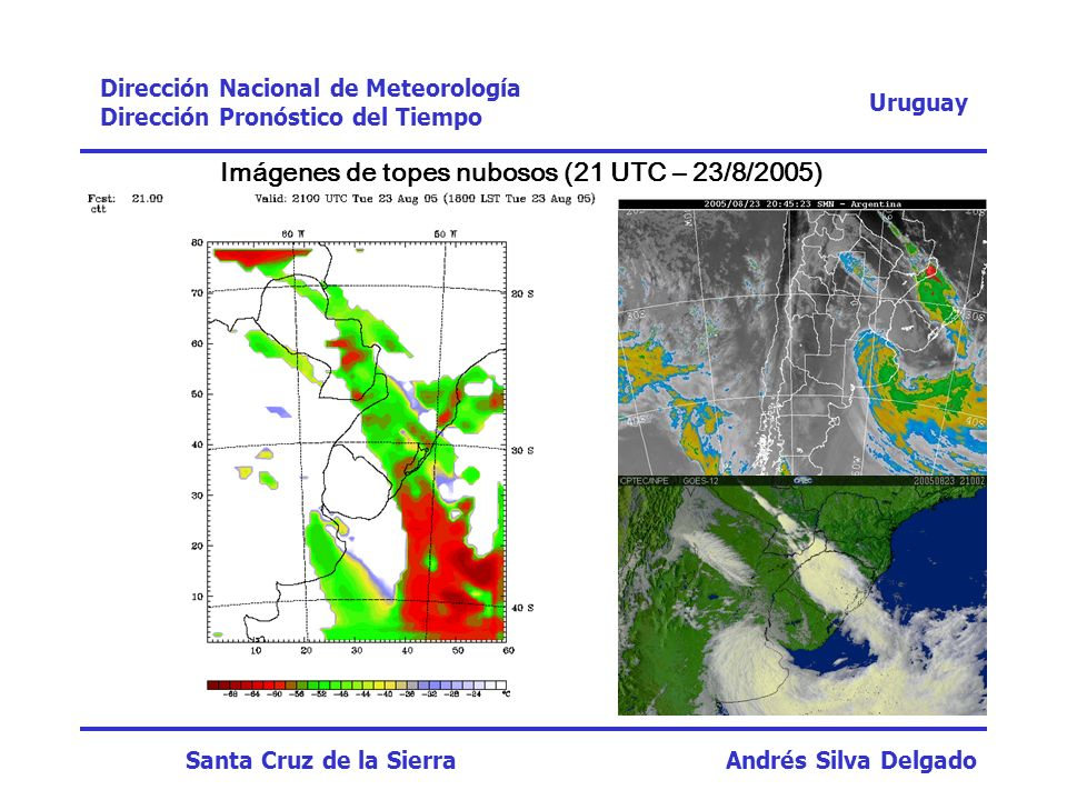 Imágenes de topes nubosos (21 UTC – 23/8/2005)