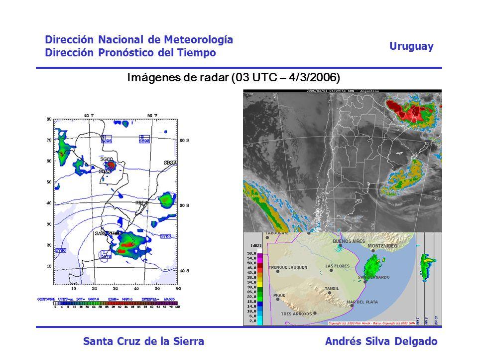 Imágenes de radar (03 UTC – 4/3/2006)
