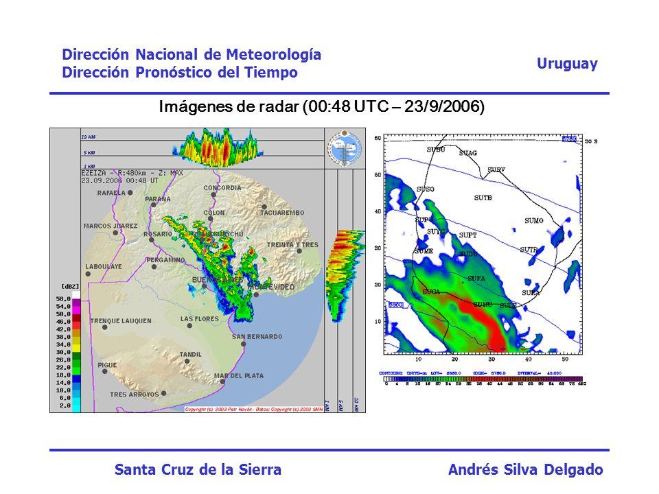 Imágenes de radar (00:48 UTC – 23/9/2006)