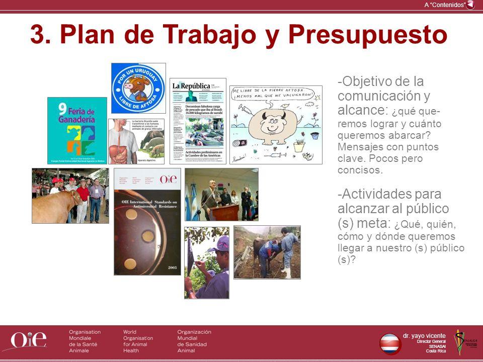 3. Plan de Trabajo y Presupuesto