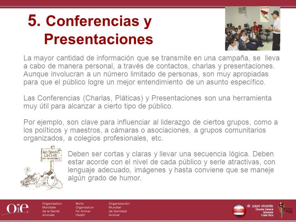 5. Conferencias y Presentaciones