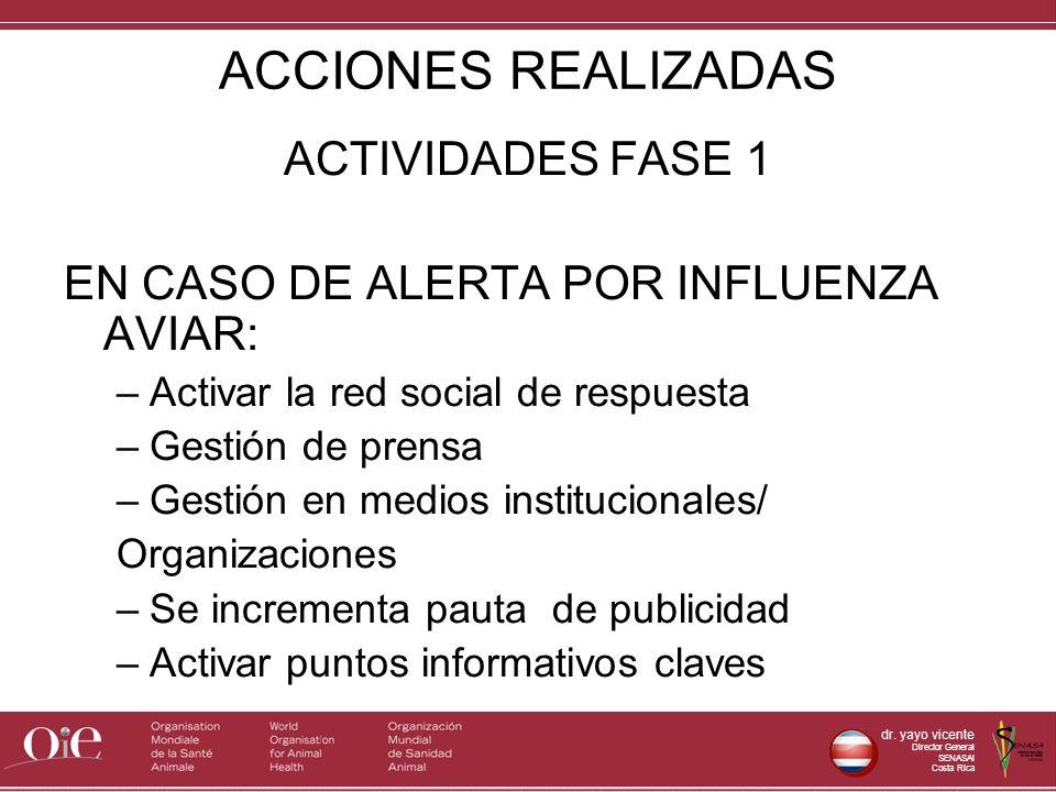 ACCIONES REALIZADAS ACTIVIDADES FASE 1