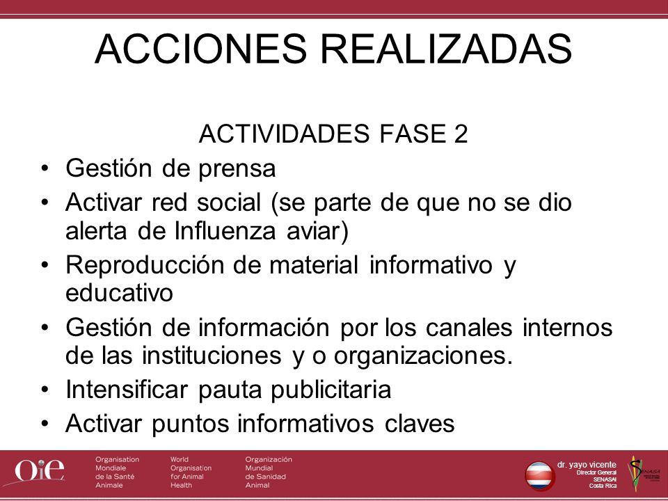 ACCIONES REALIZADAS ACTIVIDADES FASE 2 Gestión de prensa