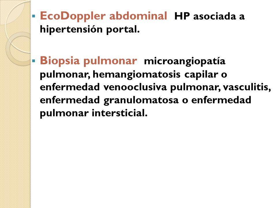 EcoDoppler abdominal HP asociada a hipertensión portal.