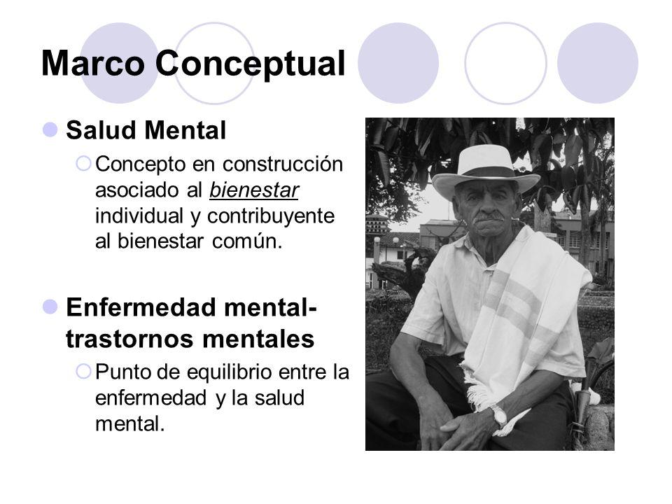 Marco Conceptual Salud Mental Enfermedad mental-trastornos mentales