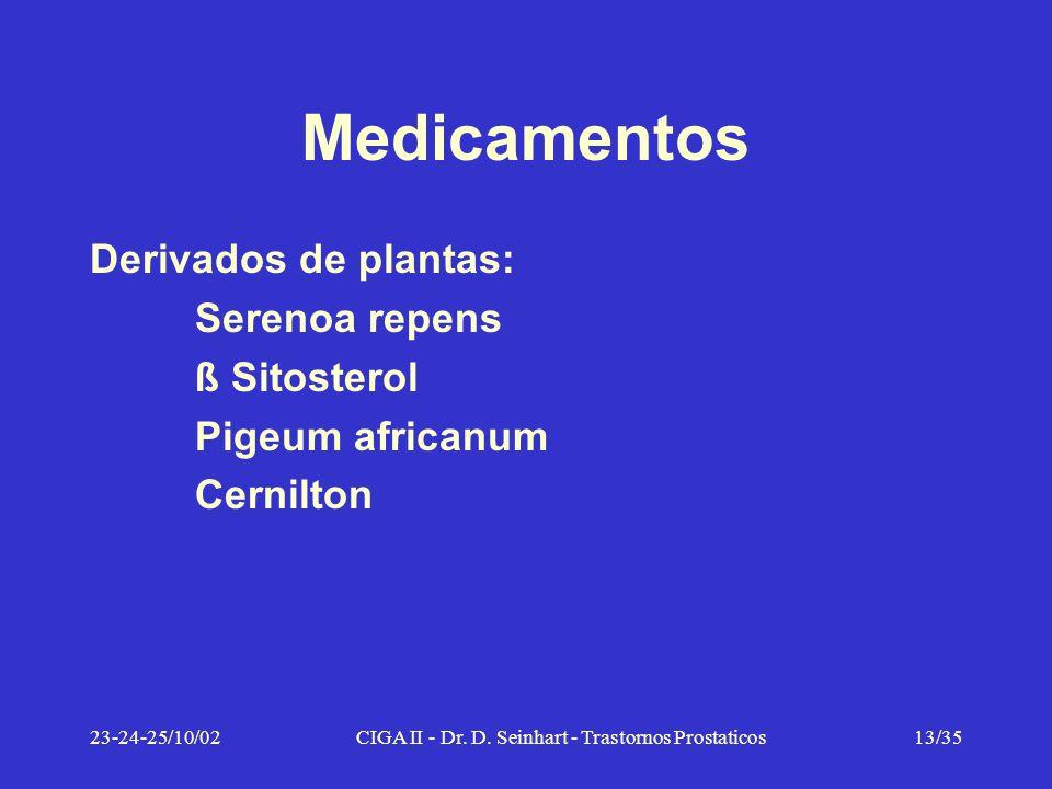 CIGA II - Dr. D. Seinhart - Trastornos Prostaticos