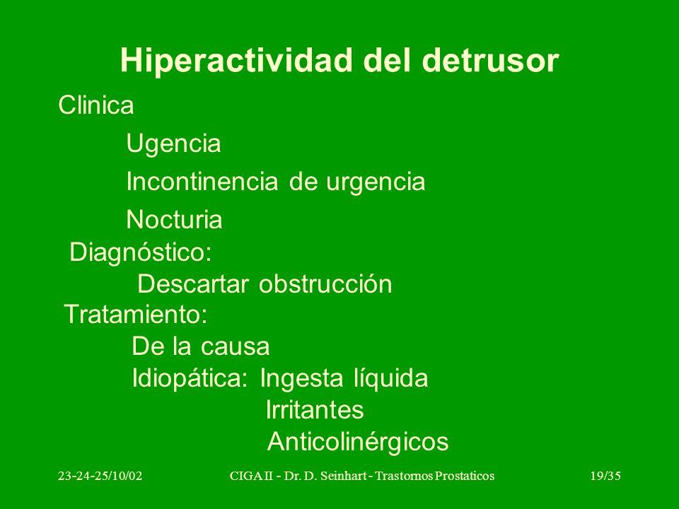 Hiperactividad del detrusor