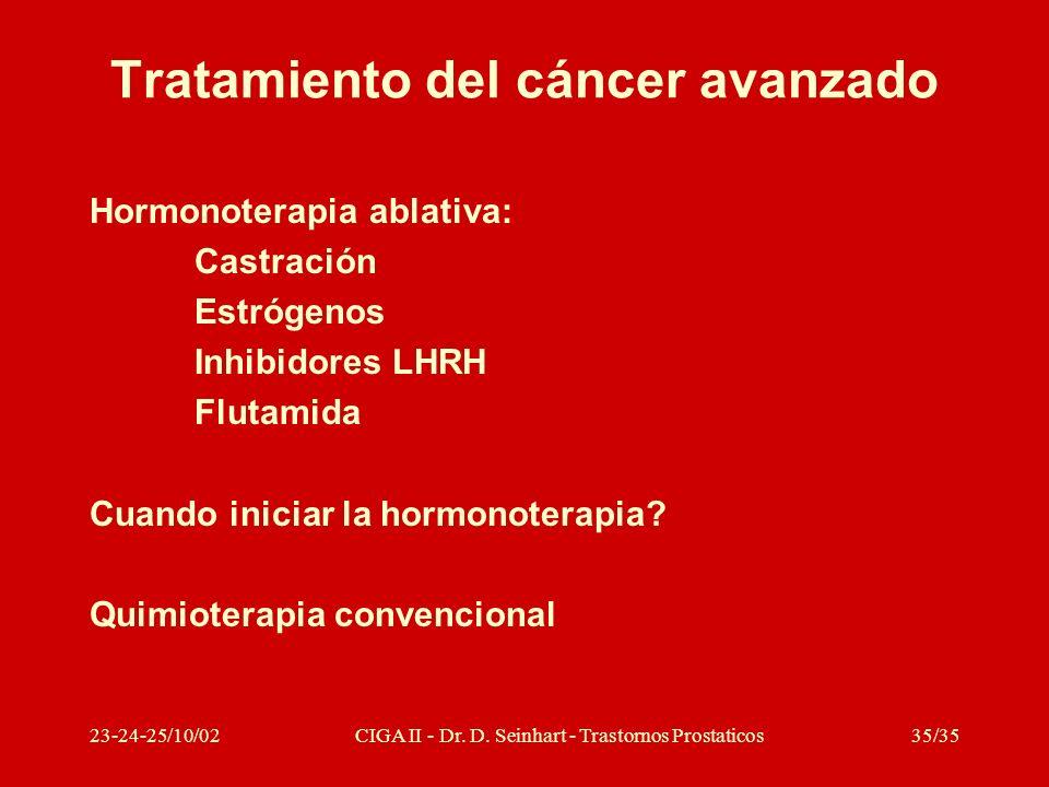 Tratamiento del cáncer avanzado
