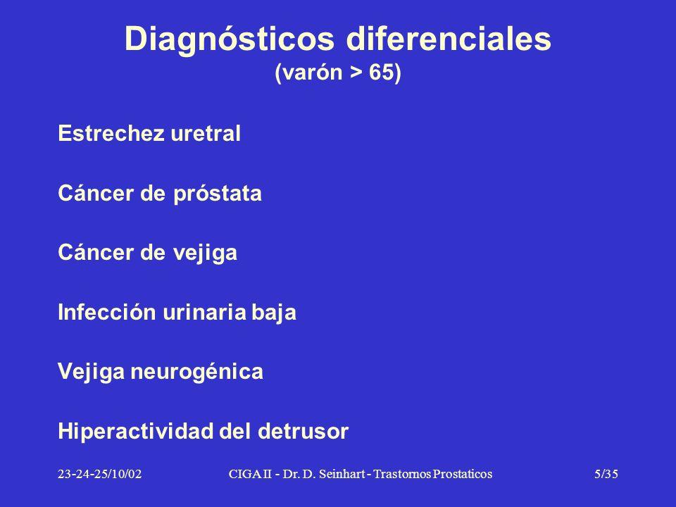 Diagnósticos diferenciales (varón > 65)