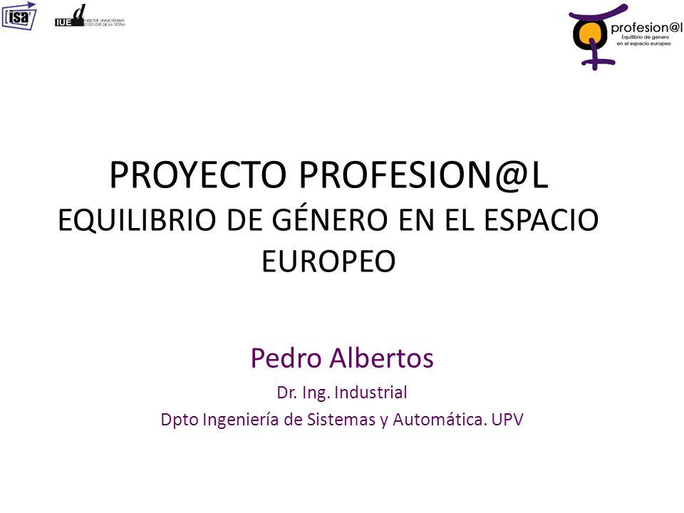 PROYECTO PROFESION@L EQUILIBRIO DE GÉNERO EN EL ESPACIO EUROPEO