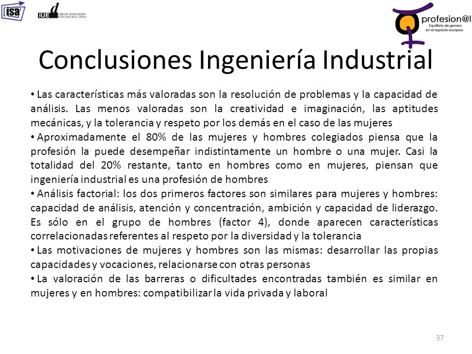 Conclusiones Ingeniería Industrial