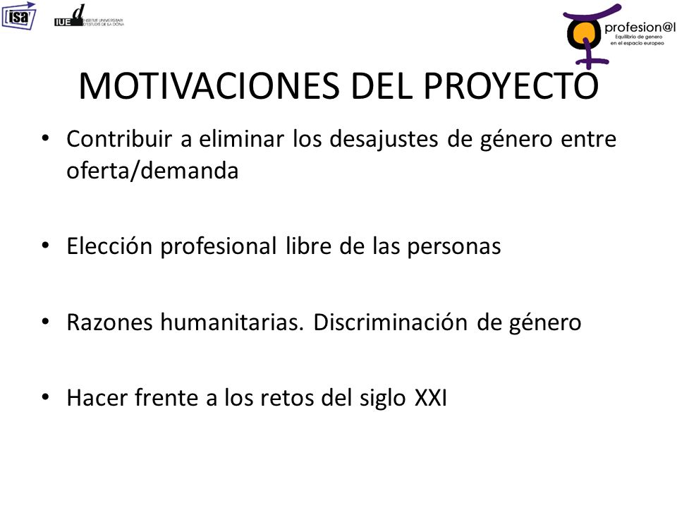 MOTIVACIONES DEL PROYECTO