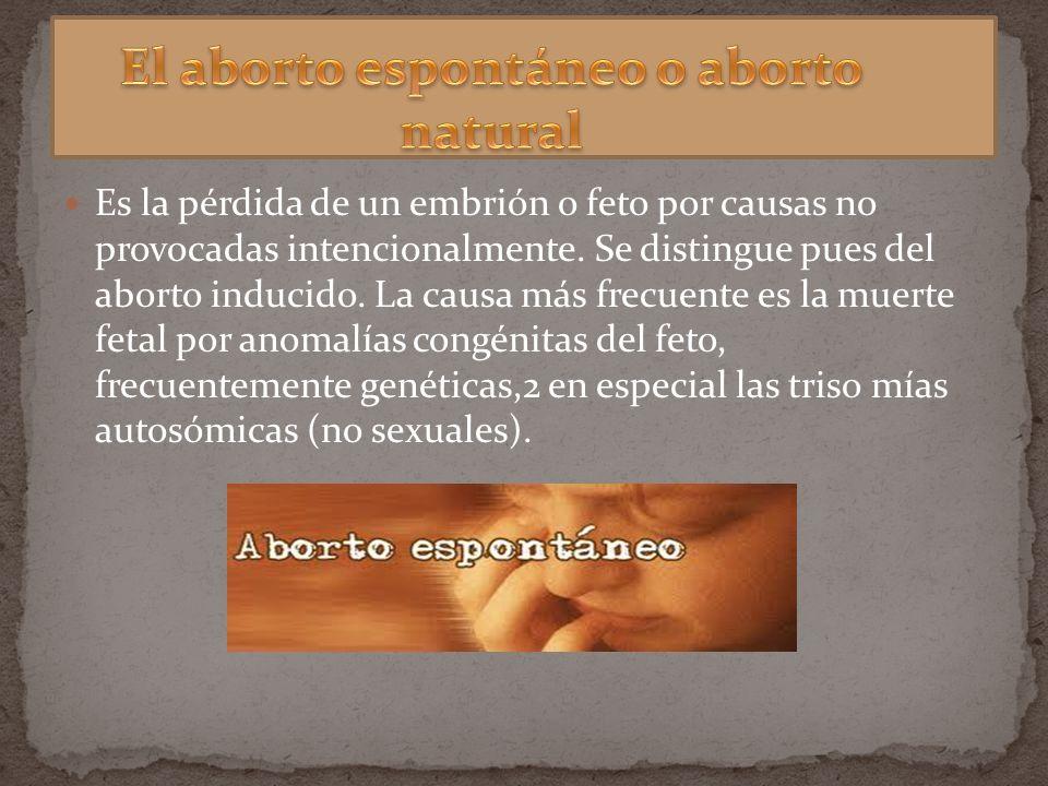 El aborto espontáneo o aborto natural