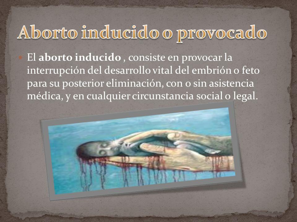 Aborto inducido o provocado
