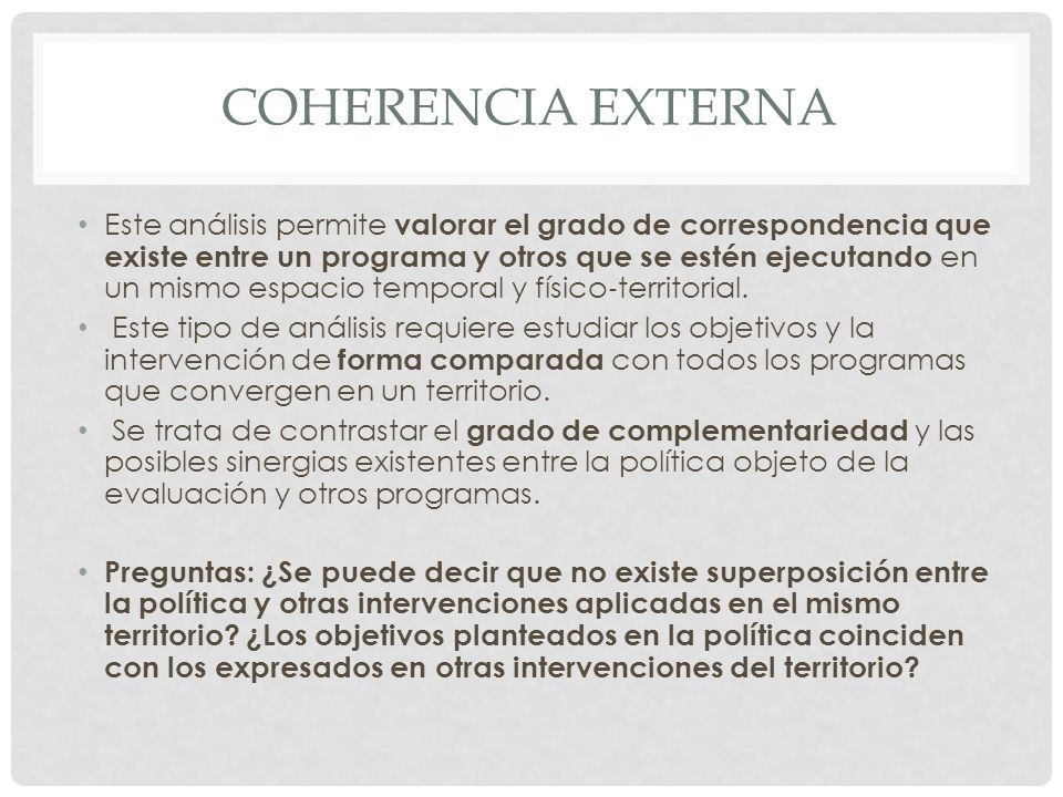 Coherencia externa