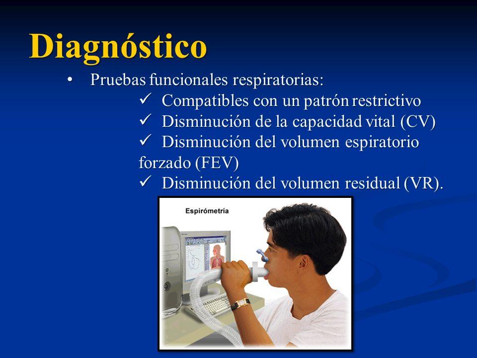 Diagnóstico Pruebas funcionales respiratorias: