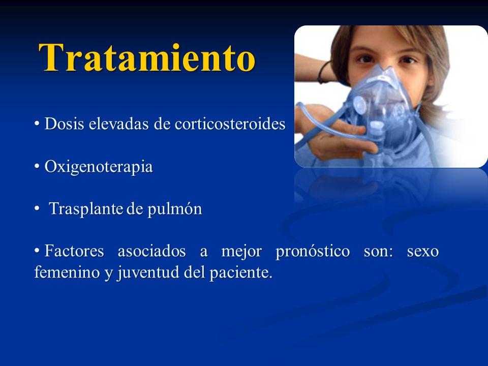 Tratamiento Dosis elevadas de corticosteroides Oxigenoterapia