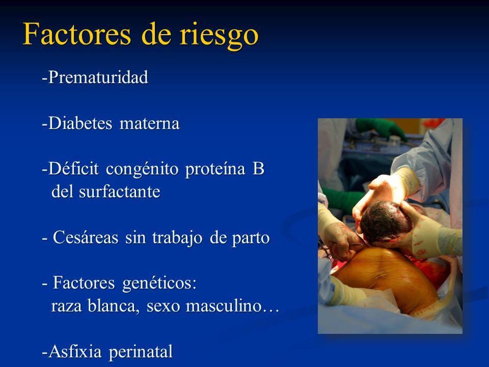 Factores de riesgo Prematuridad Diabetes materna