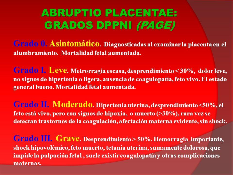 ABRUPTIO PLACENTAE: GRADOS DPPNI (PAGE)