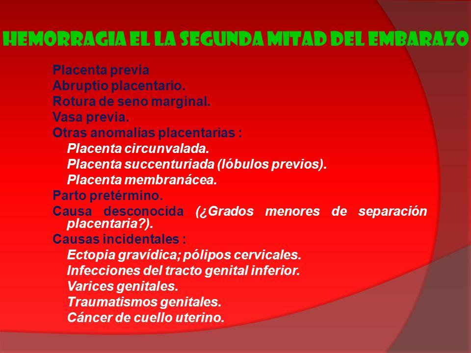 HEMORRAGIA EL LA SEGUNDA MITAD DEL EMBARAZO