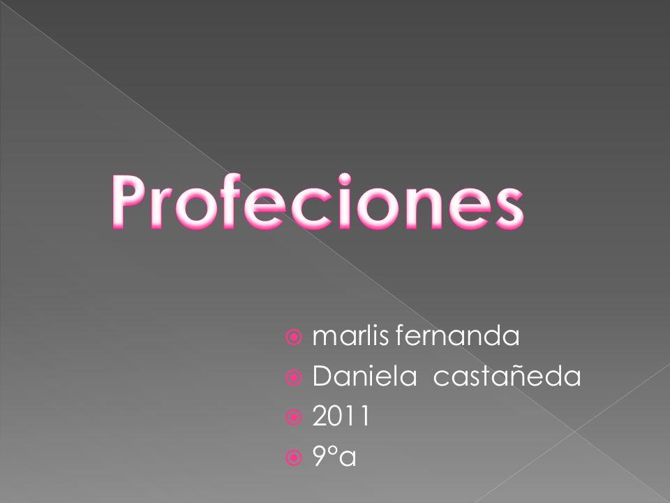 Profeciones marlis fernanda Daniela castañeda 2011 9°a