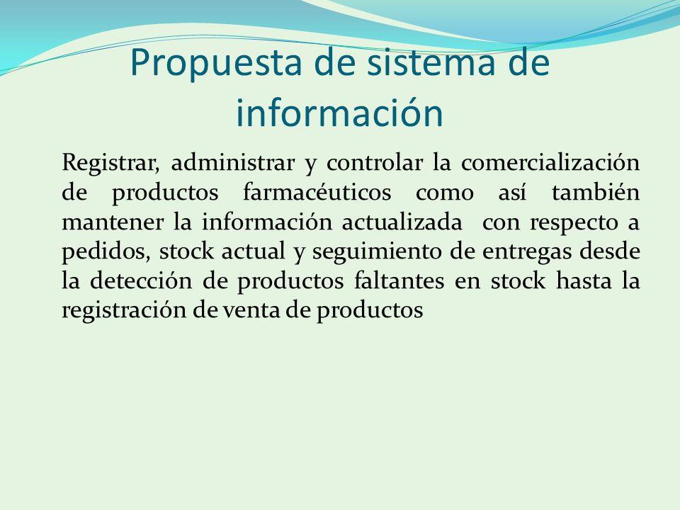 Propuesta de sistema de información