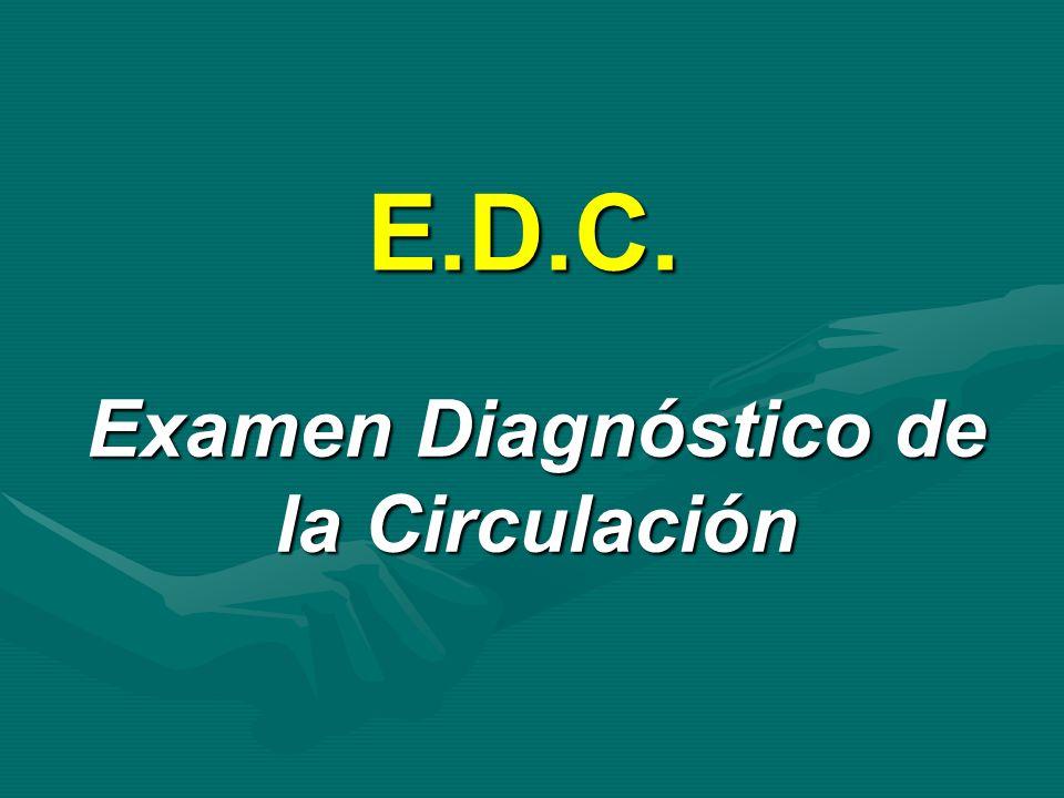 Examen Diagnóstico de la Circulación