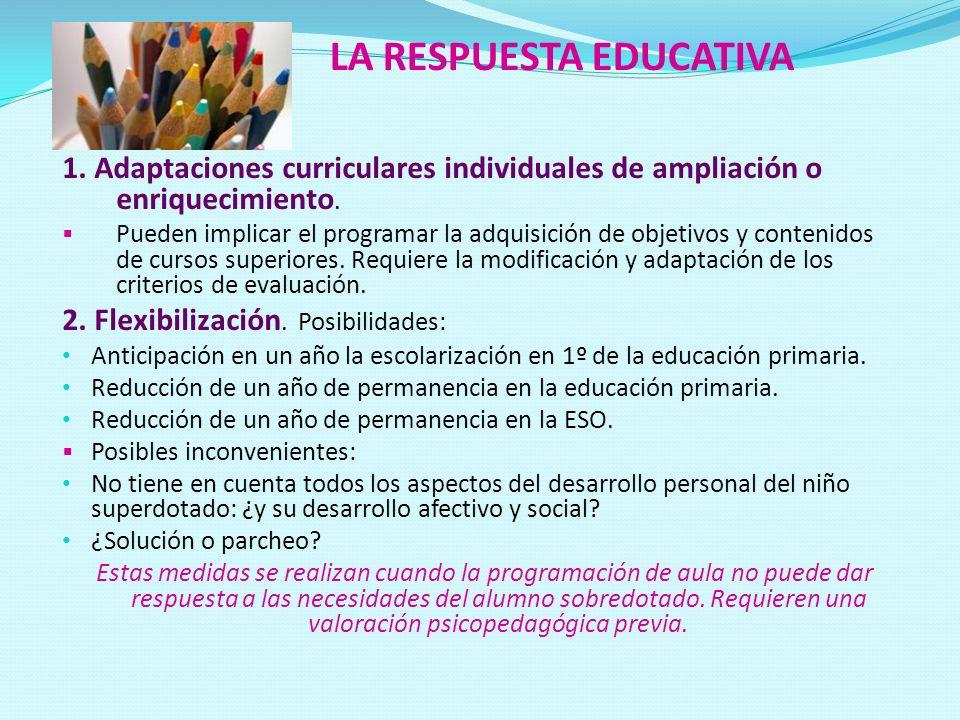 LA RESPUESTA EDUCATIVA