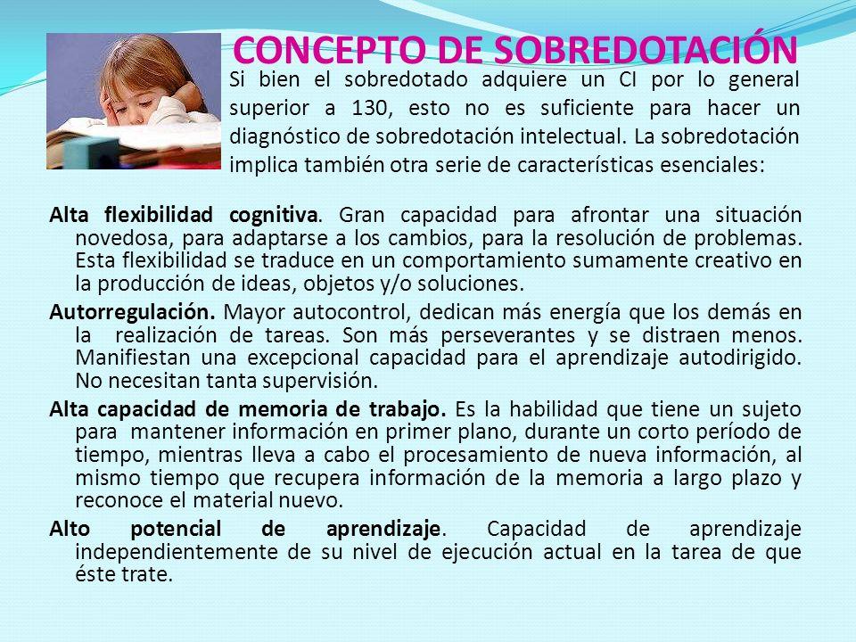 CONCEPTO DE SOBREDOTACIÓN