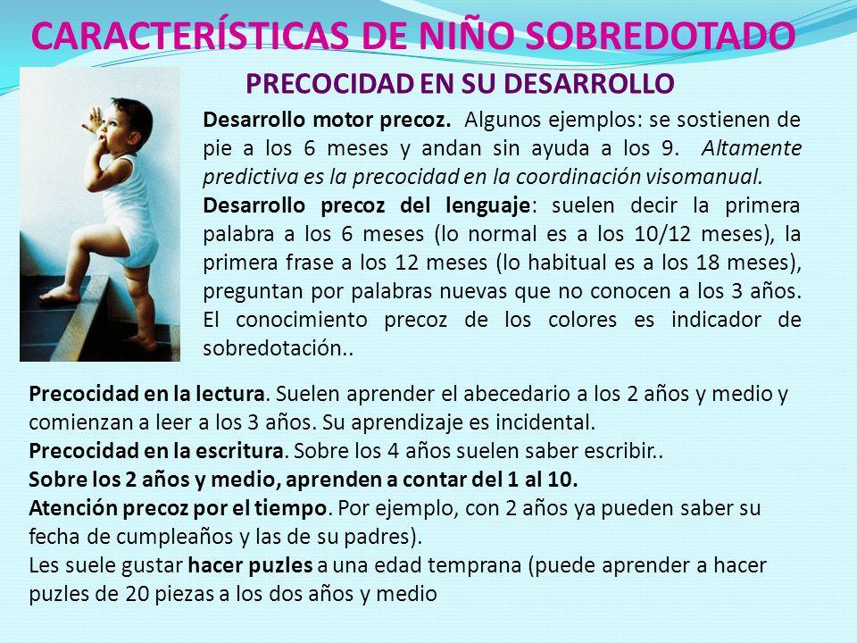 CARACTERÍSTICAS DE NIÑO SOBREDOTADO