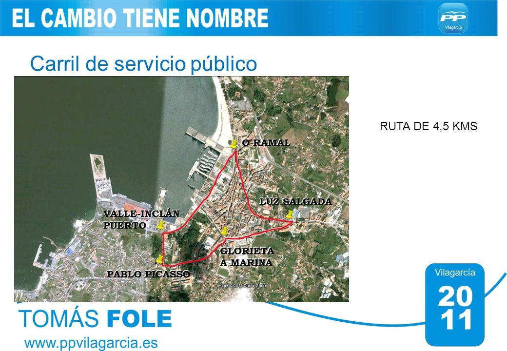 Carril de servicio público