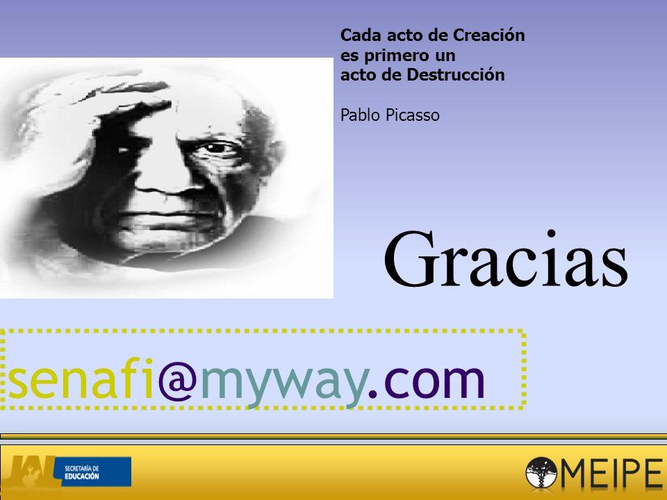 Gracias senafi@myway.com Cada acto de Creación es primero un