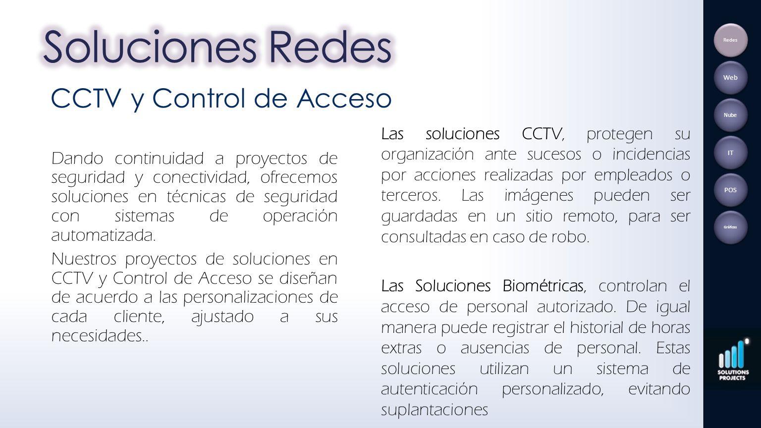 Soluciones Redes CCTV y Control de Acceso