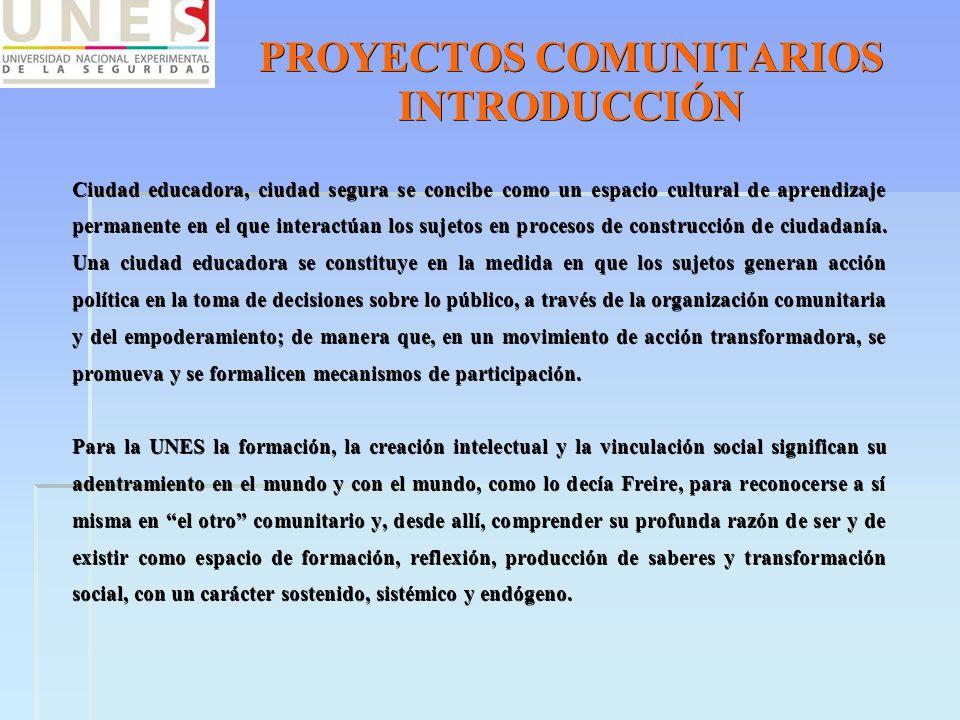PROYECTOS COMUNITARIOS INTRODUCCIÓN